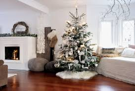 christmas decorating ideas living room elegant white fireplace