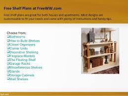 Free Woodworking Plans Floating Shelves by Freeww Com Sample Free Woodworking Plans