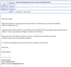 resignation letter format best resignation letter sample email