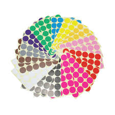 ljy color coding labels removable small circle round dot stickers