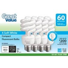 great value light bulb 14w 60w equivalent spiral cfl soft