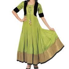 beautiful full length olive green color anarkali ysk