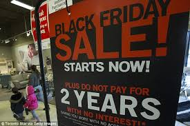 black friday sales figures in run up to thanksgiving are up by a