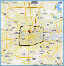 houston map of houston map travelsfinders