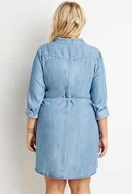 forever 21 plus size belted chambray shirt dress you u0027ve been added