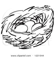 nest drawing clipart clipartxtras