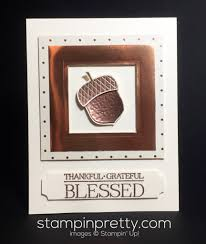 copper acorn thank you card mary fish card ideas and cards