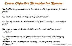 Best Resume Profile Statements by Sample Career Objectives U2013 Examples For Resumes