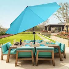 Patio Sets With Umbrella Turquoise Umbrella Patio Furniture Home Outdoor Decoration