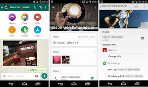 new update for android whatsapp for android gets material design in new update discovrpop