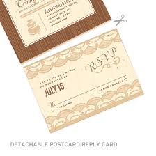 seal and send invitations rustic lace seal and send invitation seal and send wedding