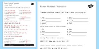 numerals worksheet australia roman numerals worksheet