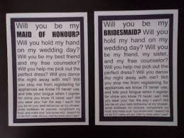 Asking Maid Of Honor Poem How Did You Ask Your Bridesmaid U0027s Weddingbee