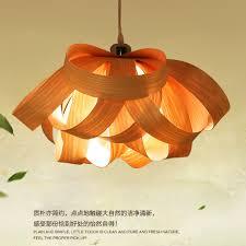 Wood Veneer Pendant Light Modern Wood Drop Light Wooden Veneer Pendant Lights Fixture Home
