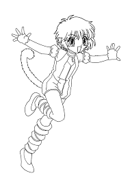 pudding from mew mew anime coloring pages for kids printable free