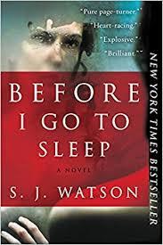 before i go to sleep a novel s j watson 9780062060563