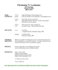Free Easy Resume Template Basic Resumes Basic Resume Exles For Part