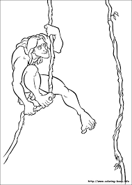 Tarzan Coloring Picture Color Disney Craft