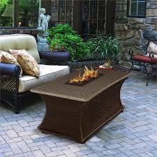 pebble outdoor coffee table outdoor gas fire pit coffee rectangle fire pit table
