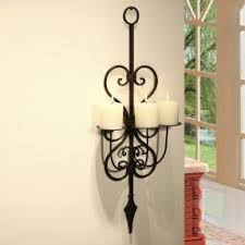 Wall Sconces Candles Holder Hurricane Wall Sconce Candle Holder Foter