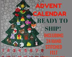 felt advent calendar etsy