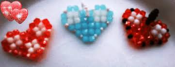 beaded heart bracelet images Beadination how to make an easy beaded heart using the double gif