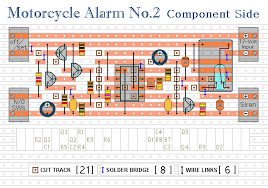 how to build a 555 timer based motorcycle alarm circuit diagram