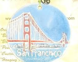 golden gate bridge ornament etsy