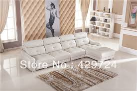 Chaise Longue Sofa Aliexpress Com Buy Free Shipping Classic White Leather L Shaped