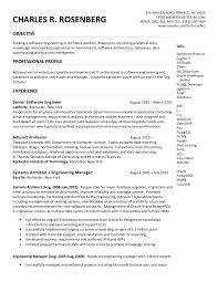 Data Architect Sample Resume by Charles Rosenberg Resume