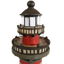 Outdoor Water Fountains With Lights Sunnydaze Decor Wnc 905 Traditional Lighthouse Outdoor Water