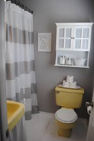 love the gray and yellow easy and cheap bathroom makeovers