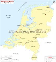 netherlands map cities cities in netherlands map of netherlands cities