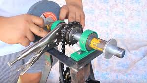 single pedal powered bench grinder