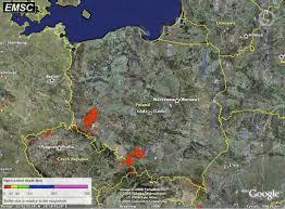 Earthquake World Map by Poland U0027s Earthquake Zones Polandian