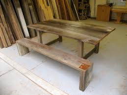 bench reclaimed wood table and bench arbor exchange reclaimed arbor exchange reclaimed wood furniture table and bench set full size