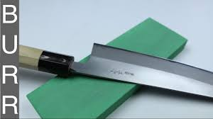 sharpening tosa chef knife 62 hrc on naniwa super stone 400 youtube