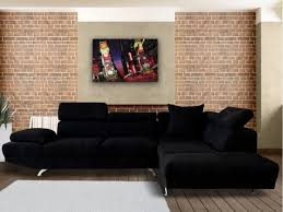 canapé angle droit en tissu savanah noir et pvc viper dya canape d angle noir tissu maison design wiblia com