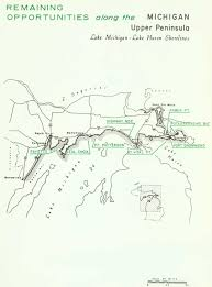 Upper Peninsula Michigan Map by National Park Service Great Lakes Shoreline Recreation Area