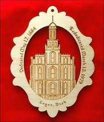 lds temple ornaments russet engravings and gifts