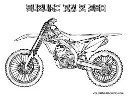 fierce rider dirt bike coloring dirtbikes free motosports