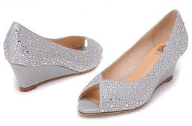 wedding shoes low wedges silver wedge bridal shoes ideal weddings