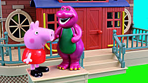 peppa pig barney friends dinosaur george pig