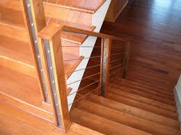 Wooden Stair Banisters Interior Cable Stair Railing Exclusive Ideas Cable Stair Railing