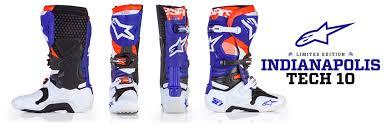 motocross boots alpinestars alpinestars limited edition indainapolis tech 10 transworld