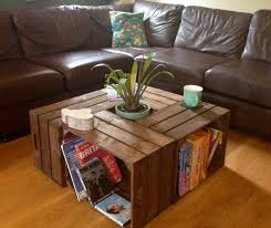 crate coffee table great crates