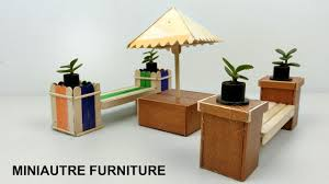 diy miniature outdoor furniture bench u0026 table popsicle stick