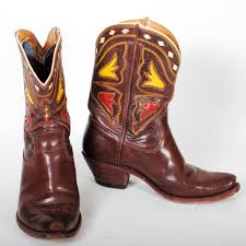 motorcycle boots men brown acme cowboy boots vintage mens sz 8d