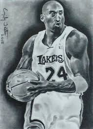 kobe bryant la lakers basketball sketch card by avintagedreamer on