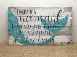 Colors Mermaid Wall Decor Wood To her With Diy Mermaid Wall